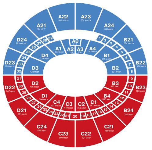 Дворец спорта мегаспорт схема зала с местами